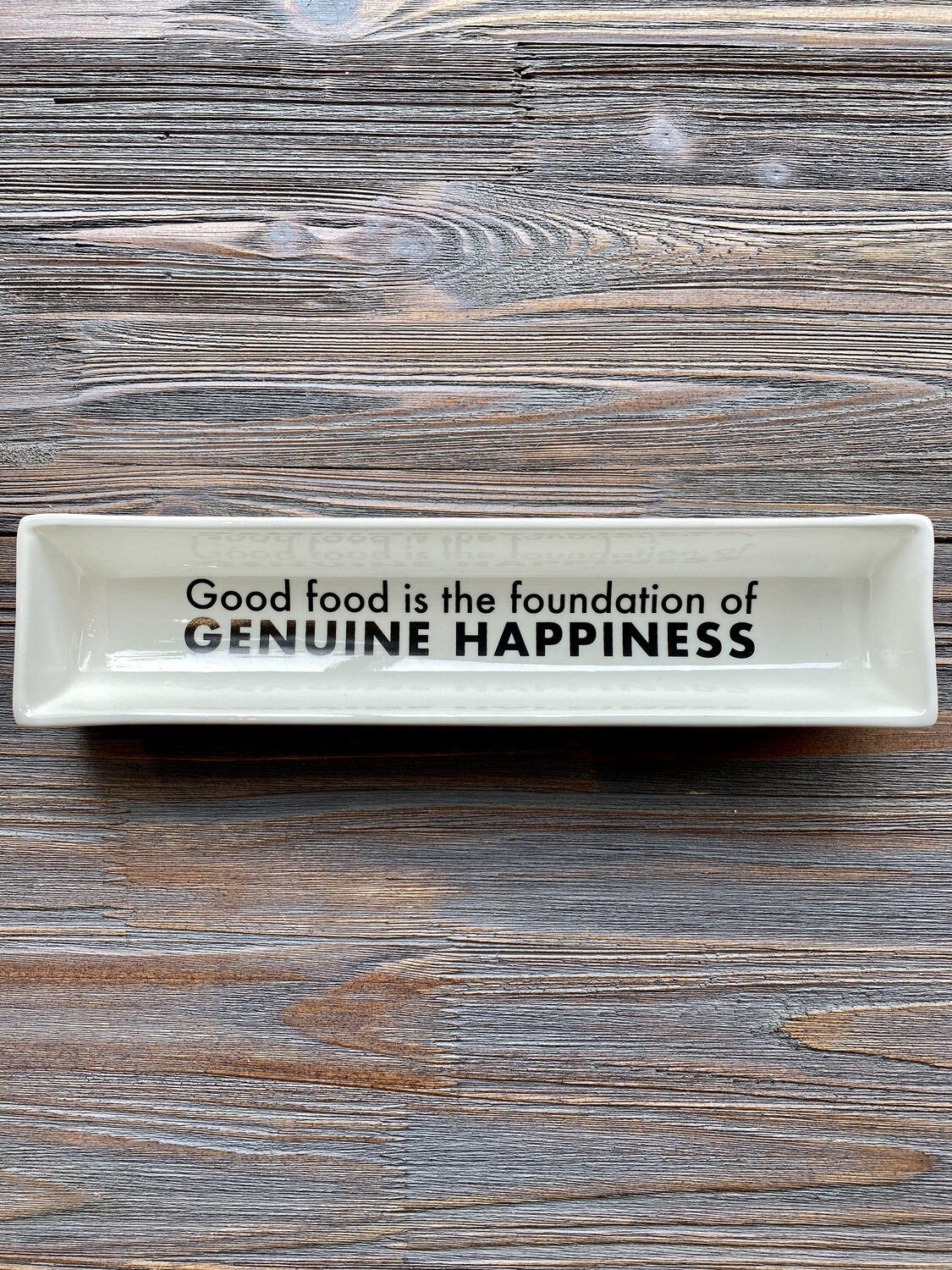 Genuine Happiness Cracker Dish