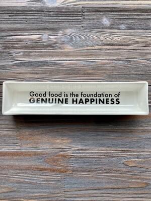 Genuine Happiness Cracker Dish