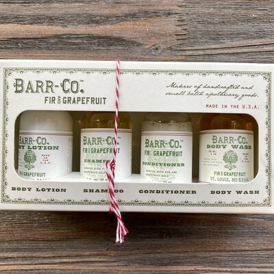 Barr Co. Fir & Grapefruit Bath & Body Gift Set