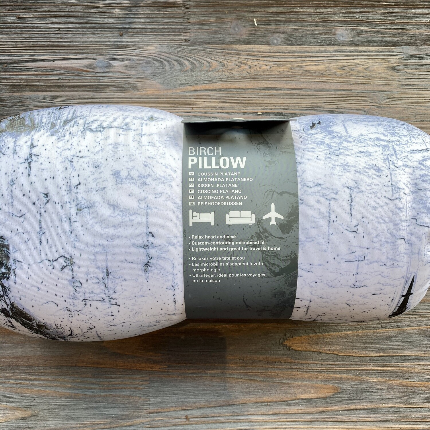 Birch Log Pillow