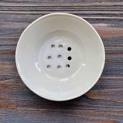 """5"""" Round White Reactive Glaze Berry Bowl"""