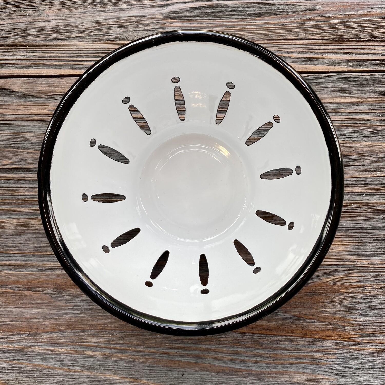 White Enamel Berry Bowl