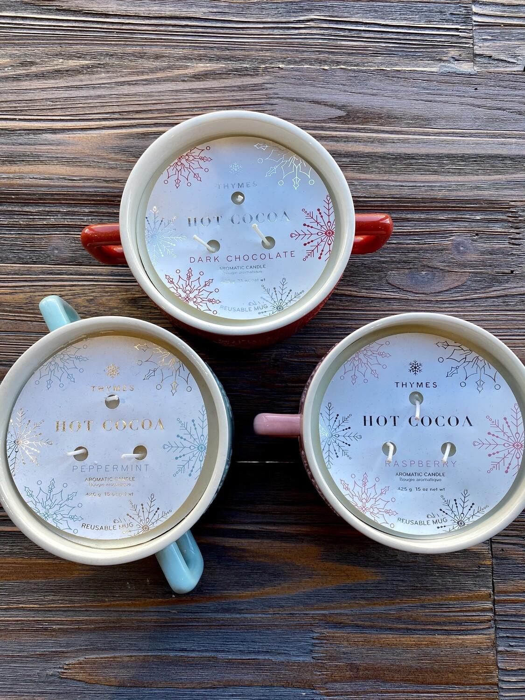 Thymes Hot Cocoa Large Mug 15 oz