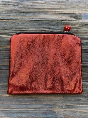 8 x 6 Red Fabric Pouch With Jingle Bell
