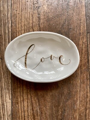Ceramic Dish With Love Electroplating