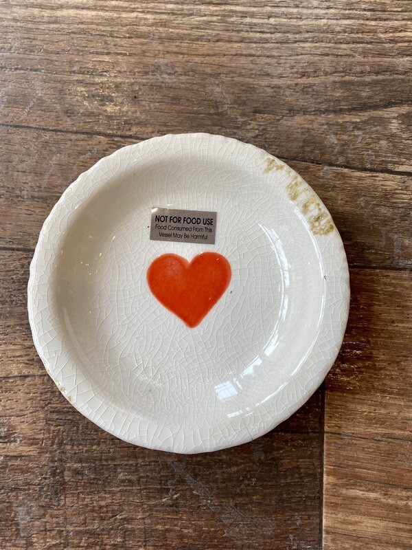 Terra Cotta Dish With Heart