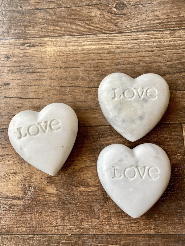 Soapstone Heart with Love