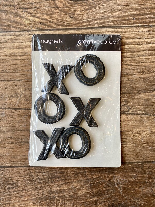Set 6 Pewter XO Magnets