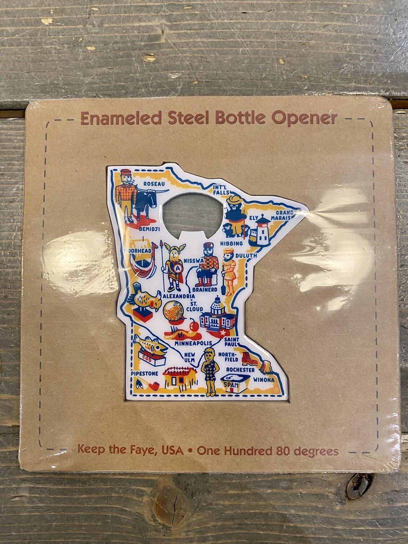 Minnesota Enamel Bottle Opener