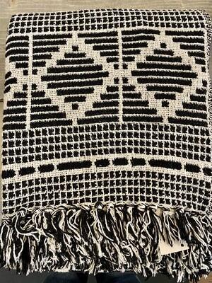 Black Diamond Cotton Blend Throw