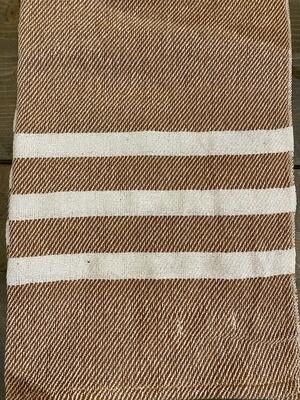 Rust Stripe Cotton Blend Throw