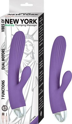 VIBES OF NEW YORK HEAT UP THUMPING MASSAGER PURPLE