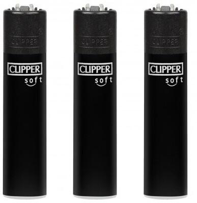 CLIPPER LIGHTER SOFT BLACK SOLID