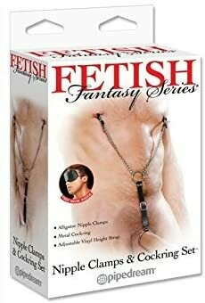FF NIPPLE CLAMPS COCK RING SET