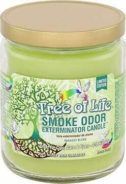 SMOKE ODOR CANDLE TREE OF LIFE