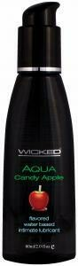 WICKED AQUA CANDY APPLE LUBE 2OZ
