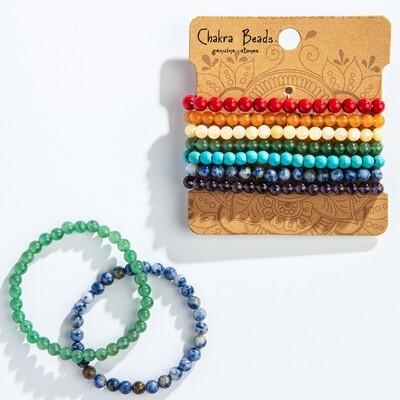 6mm Chakra Beads Bracelet Sets