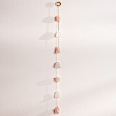 Rose Quartz Passion Wall Hanging