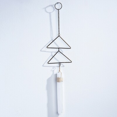 selenite wall hanging
