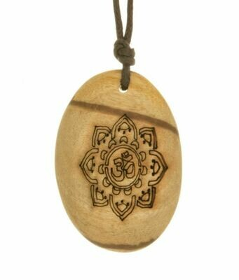 Palo Santo Necklace with Adjustable Cord