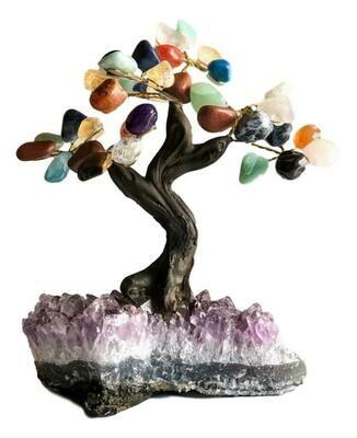 Mixed Gemstone Bonsai Tree