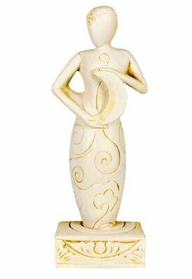 Gypsum Cement Moon Goddess Figurine