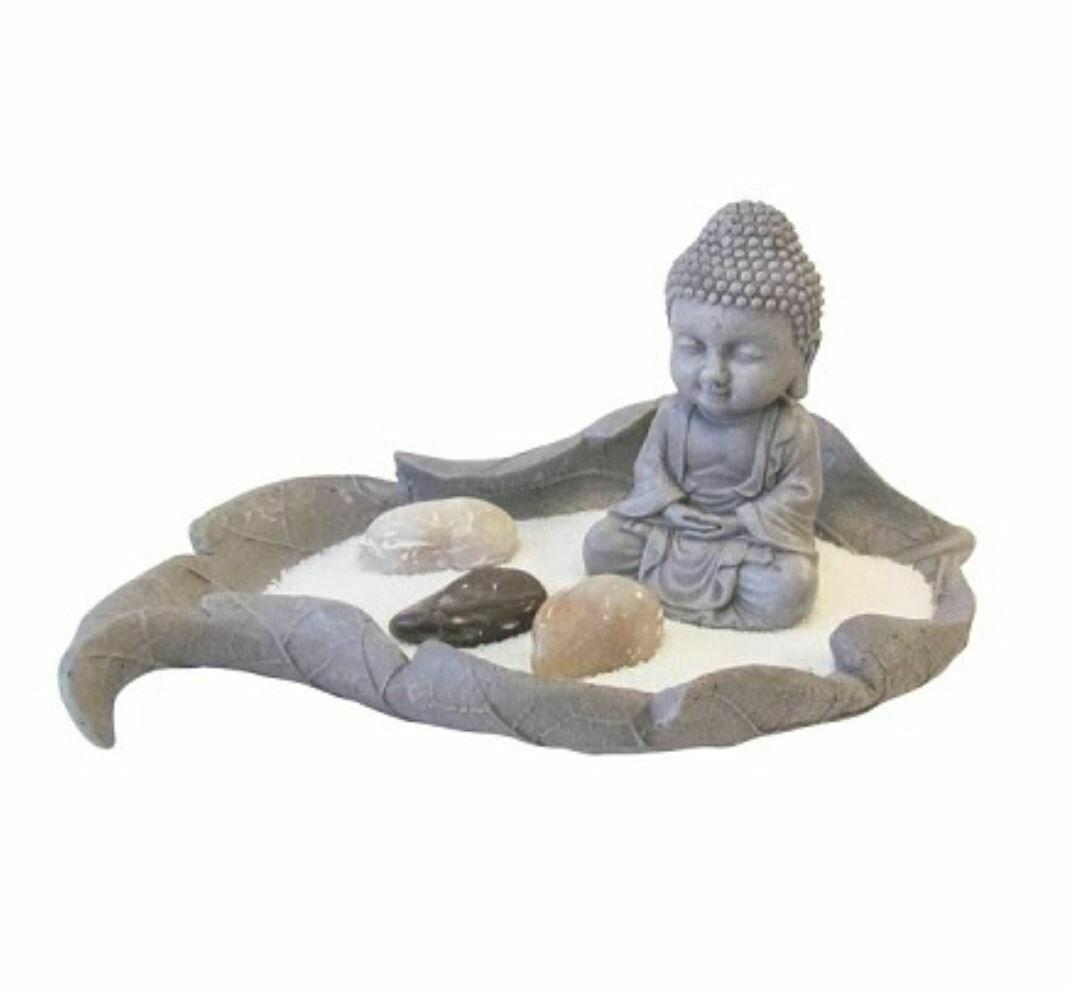 Buddha in Leaf Zen Garden