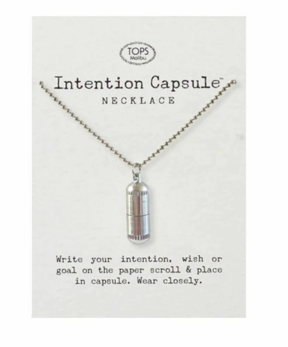 Intention Capsule Necklace Silver