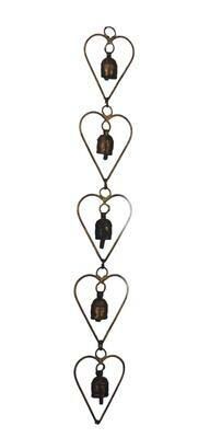 Five Hearts Nana Bell Wind Chimes 26