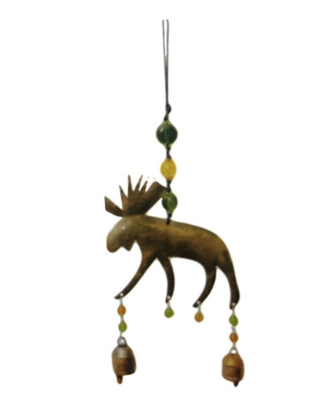 North Woods Moose Nana Bell Wind Chimes 15