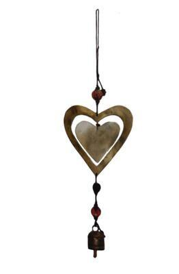 Double Heart Nana Bell Wind Chimes 18