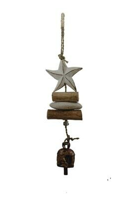 Driftwood Starfish Nana Bell Wind Chime 15