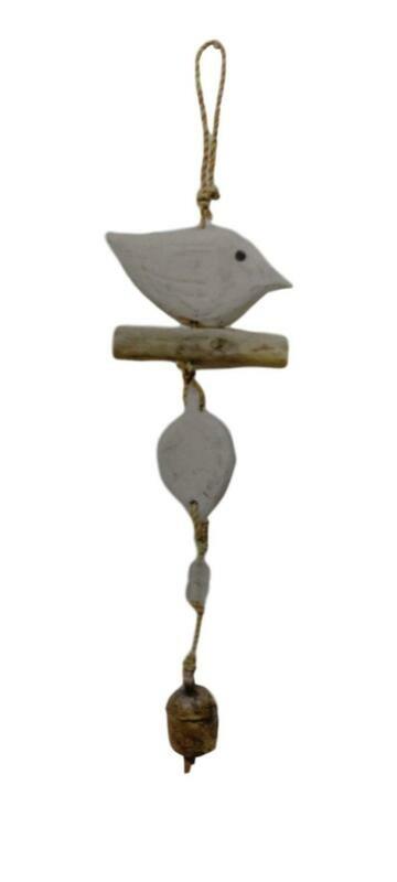 Driftwood Bird Nana Bell Wind Chime 16