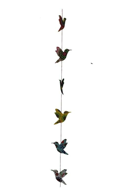 Sweet Bird Suzani Print Paper Garland 47