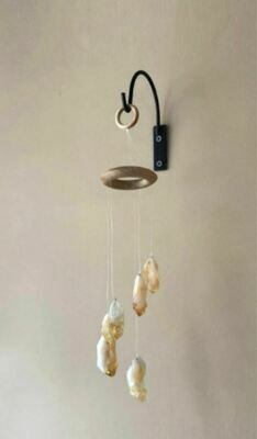Citrine Crystal Points Gemstone Mobile Wind Chime