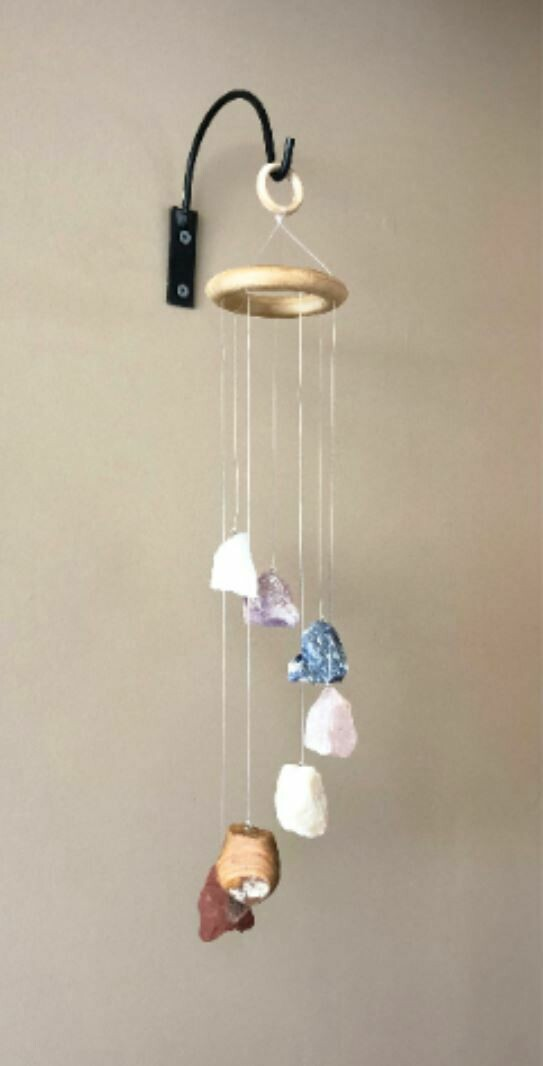 Rough Stone Hanging Chakra Mobile