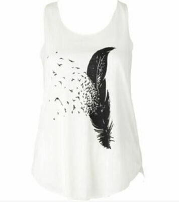 Birds of a Feather Ivory Tank Top
