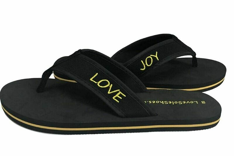 Love JOY Love Sole Footprint Flipflops