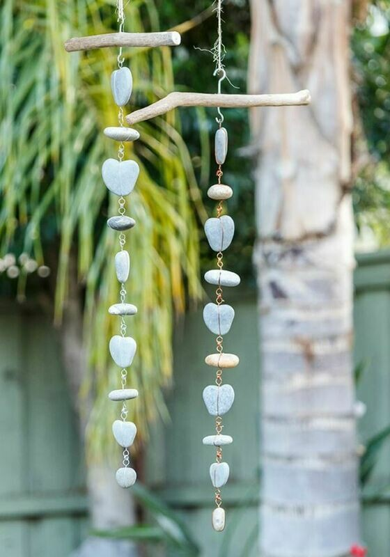 Stone Heart Hanging Garlands
