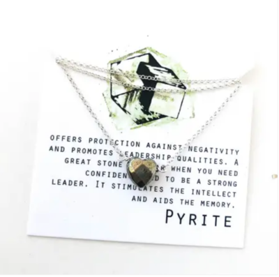 Everyday Pyrite Heart Necklace