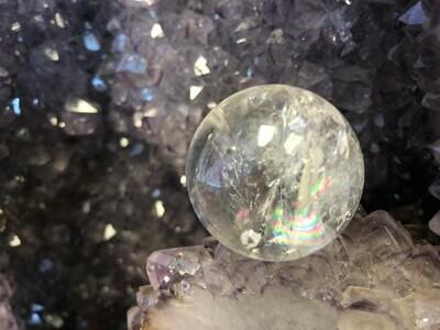 Clear Quartz Mini Rainbow Sphere