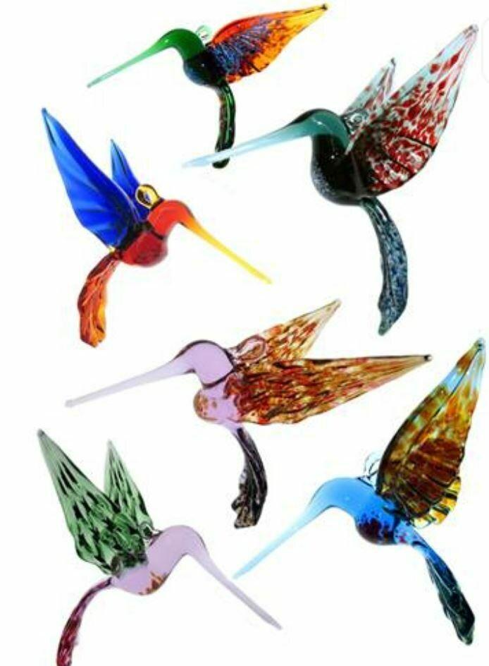 Hand Blown Glass Hummingbird