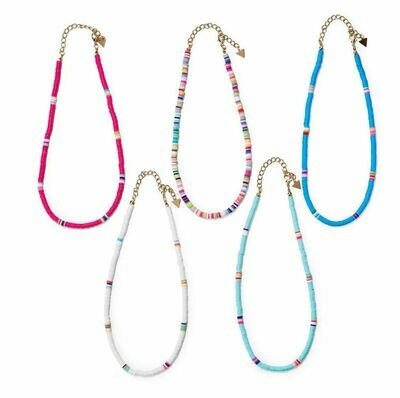 Front Row Heishi Style Bead Necklace