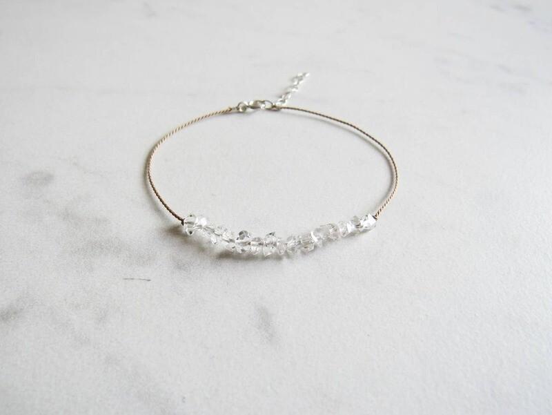 Herkimer Diamond Slide Bracelet