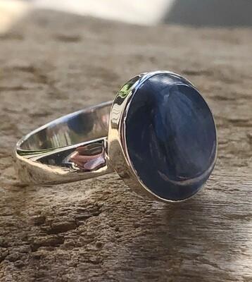 Blue Kyanite Gemstone Statement Ring