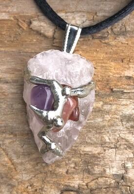 Soulmate Gem Drop Pendant Necklace