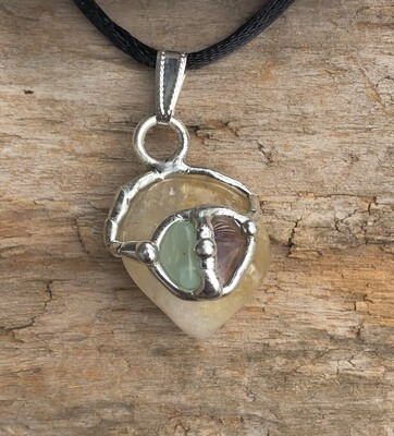 Well Being Gem Drop Pendant Necklace