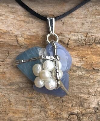 Water Gemstone Pendant Necklace