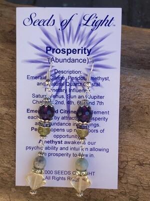 Prosperity & Abundance Emerald Dangle Earrings