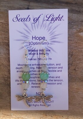 Hope Moonstone Dragonfly Earrings